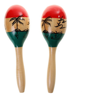 Hand Percussion Wooden Maraca Children Musical Instrument To