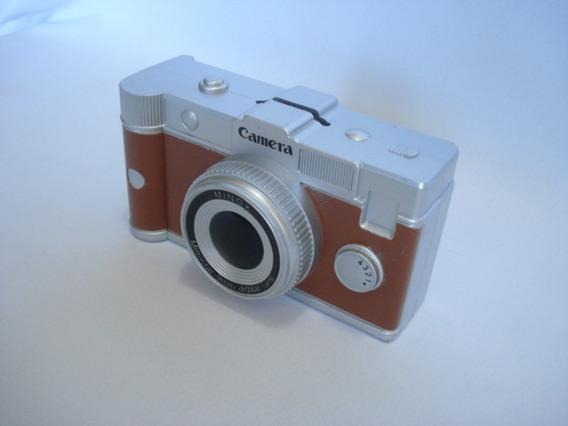 Cofre Maquina Fotografica Marrom Camera Decoração