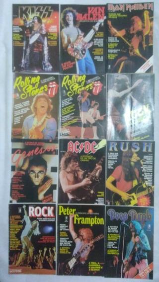 12 Revistas Poster Ed Três Led Iron Ac Dc Rock Frete Gratis