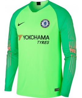 Camisa Chelsea Verde Goleiro 18-19 Manga Longa Importada