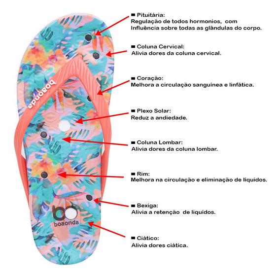 Chinelo Feminino Happy Palmilha Magnética P/ Esporão Boaonda