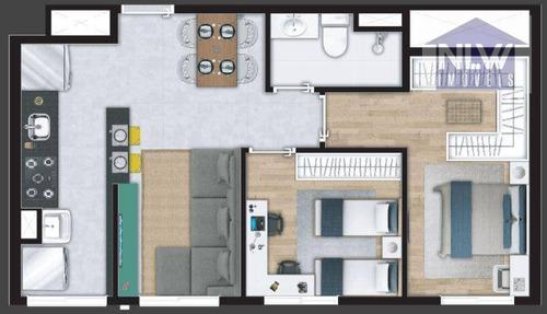 Imagem 1 de 13 de Apartamento Com 2 Dormitórios À Venda, 44 M² Por R$ 187.492,00 - Cidade Miramar - São Bernardo Do Campo/sp - Ap3316