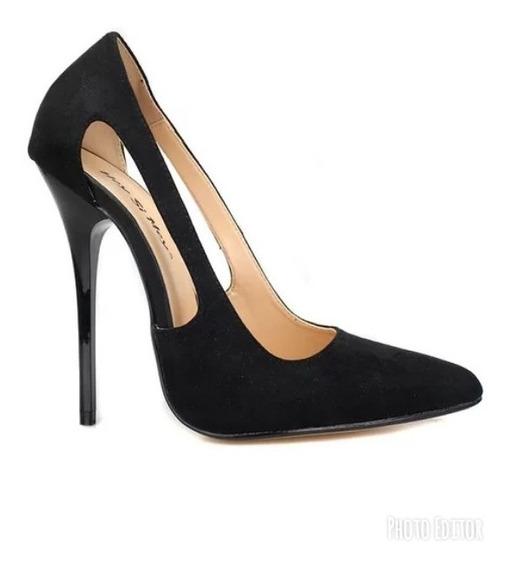Sapato Feminino Importado Scarpin Lateral Vazada