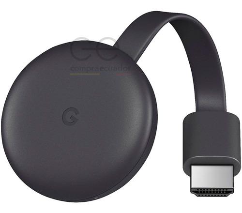 Imagen 1 de 8 de Chromecast 3 Google Convertidor Tv En Smart Tv Oferta