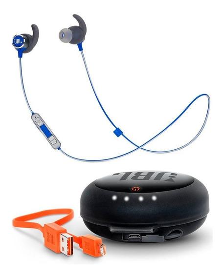 Fone De Ouvido Jbl Reflect Mini 2 Azul + Case Carregador