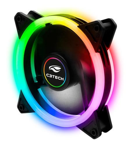 Imagem 1 de 5 de Fan 120mm Ventoinha Gamer Cooler Rgb Led Duplo Argb C3tech