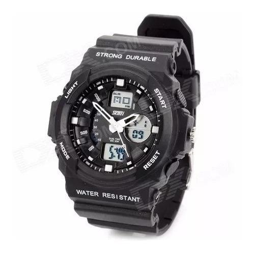 Relógio Masculino Skmei Esportivo Preto C/luz Cronometro 955