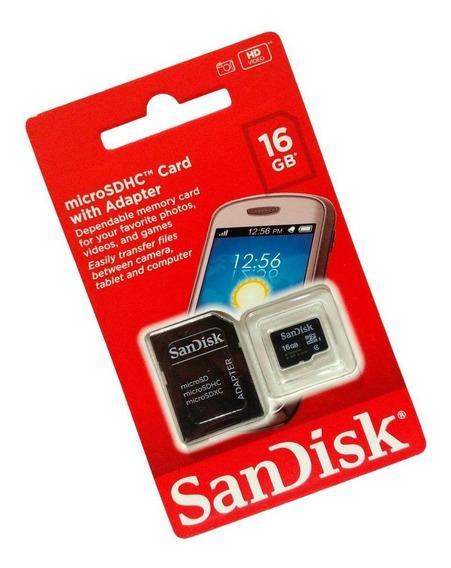 Cartão De Memória Sandisk 16gb Original