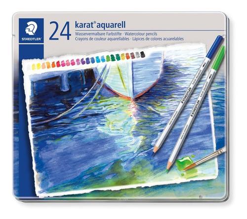 Lápis De Cor Staedtler Karat Aquarelável 24 Cores