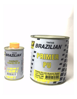 Primer / Fundo Automotivo Pu Branco Super Brazilian 900 Ml