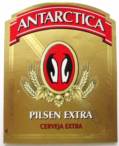 C2179 Rótulo Cerveja Antarctica Pilsen Extra Dourado Mede 8