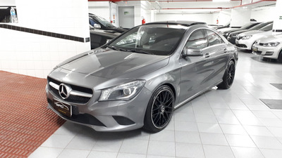 M.benz Cla 200 1.6 First Edition Turbo 2014 Cinza Blindada