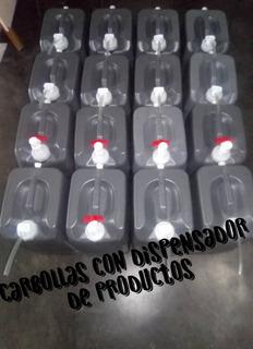 Carbollas O Bidones De 20 Litros Con Dispensador De Producto
