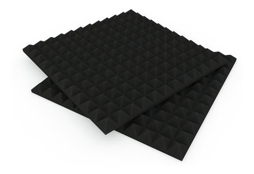 Pack X10 Placas Acústicas Económicas 50x50x3 Modelo Piramid