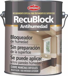 Envío Gratis Pintura Antihumedad 4 Lts Recublock Rodillo