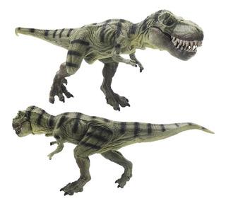 Figura Dinosaurio Tiranosaurio Grande Detalles Pintura Verde