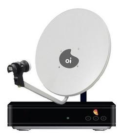 Kit Oi Tv Livre Hd Receptor + Antena De 60cm Cabo Lnb Duplo
