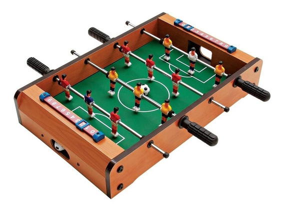 Mini Mesa De Pebolim Jogo Futebol Completo