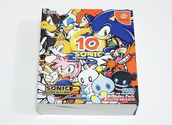 Sonic Adventure 2 Dreamcast 10th Novo Lacrado! Raro A+++