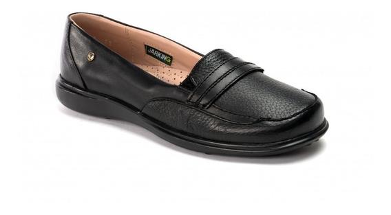 Zapato Casual De Piel Jarking 16hrs 592 Negro Para Dama