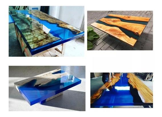 Resina Epoxi Cristal Vidro Liquido - Artesanato Mdf Madeira