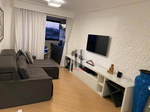 Apartamento Com 3 Dormitórios À Venda, 74 M² Por R$ 610.000 - Mooca - São Paulo/sp - Ap2908