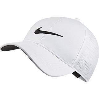 Nike Unisex Aerobill Legacy 91 Gorra De Golf Perforada, Blan