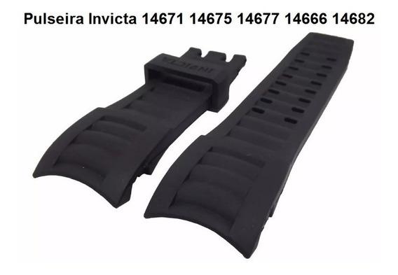 Pulseira Invicta 14671 14675 14677 14666 14682 Borracha