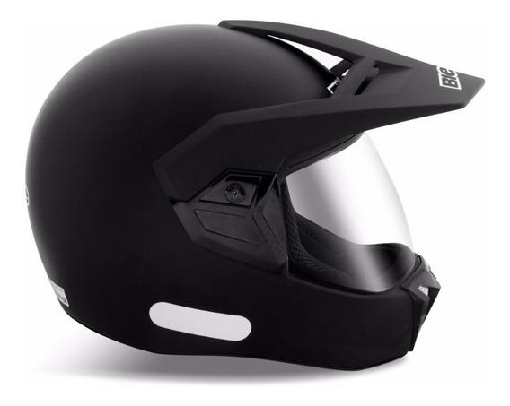 Capacete Moto Bieffe 3 Sport New Classic Preto Fosco