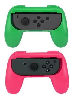 Accesorios X2 Nintendo Switch Grip Para Joy Con Splatoon