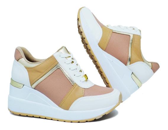 Tênis Feminino Via Marte Sneaker 19-12375 - Rosa/branco