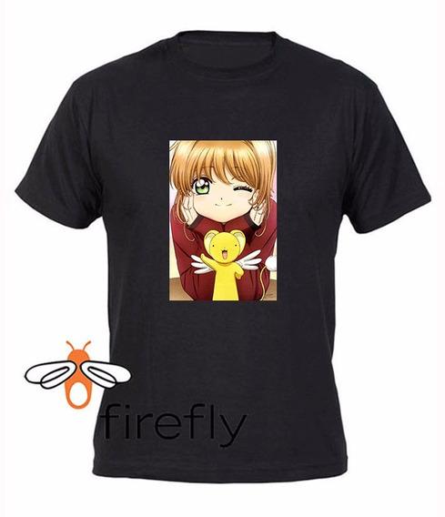 Remera Sakura Card Captor Hombre Negro Coleccion 1 Firefly