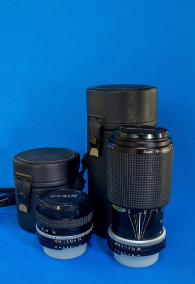 Conj. De Lentes Nikon 35mm E 75-150mm