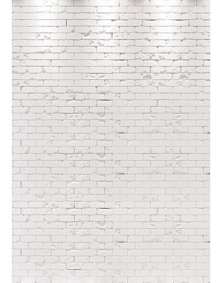 Fundo Fotográfico Tijolos Branco Em Tecido 1,5x2,2m Ffb-211