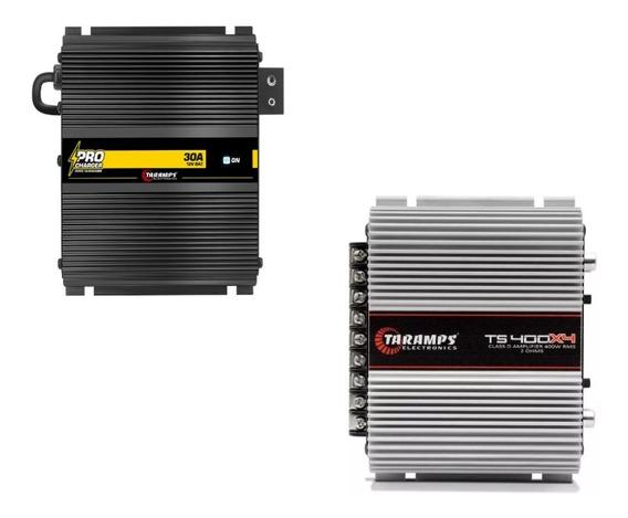 Kit Modulo Taramps Ts400 X4 + Fonte Carregador Pro 30a