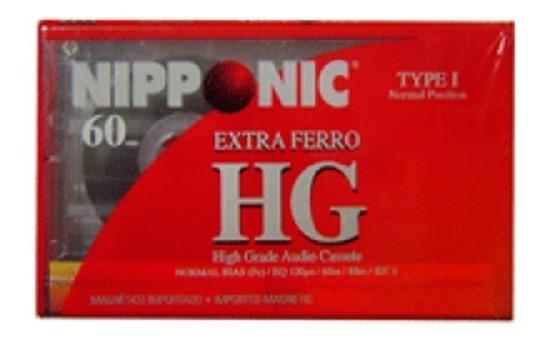 Fita Cassete Ferro Extra 60min Nipponic Kit Com 4