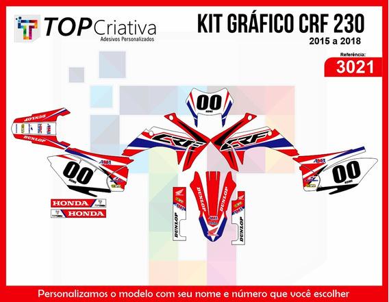 Kit Gráfico Crf 230 Cola Extra Forte Adesivo 0.40mm