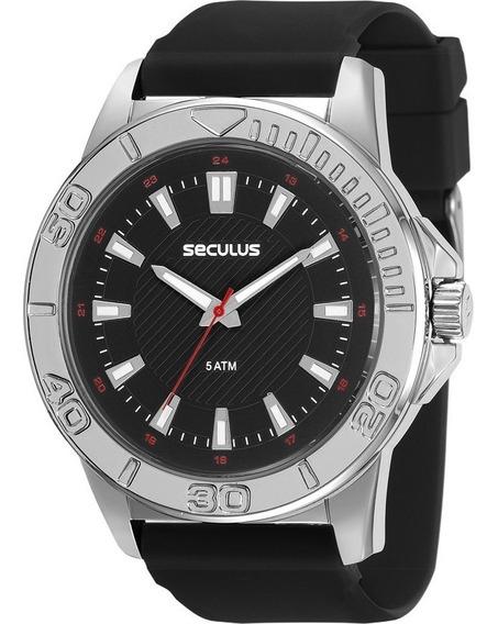 Relógio Seculus Masculino Pulseira Silicone 23611g0svni1