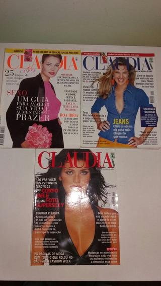 Revista Claudia 1995,1999,2001 Lote Com 3 Revistas