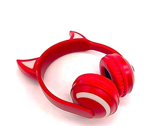 Fone De Ouvido Bluetooth Diabinho Led Headfone P2 Celular