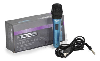 Microfono Karaoke Ross Fm138 Original Dinamico Vocal Cable
