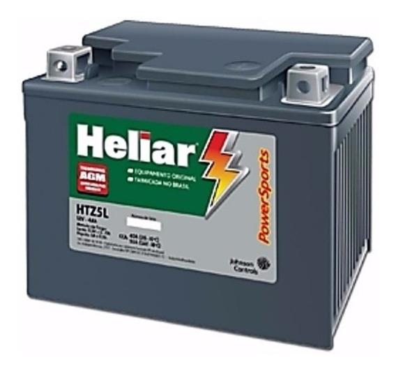 Bateria Moto Heliar Htz5l Honda Biz / Fan / Titan / Bros
