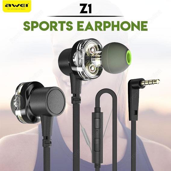 Fone Awei Z1 (dual Driver) Pronta Entrega ! ** Original**