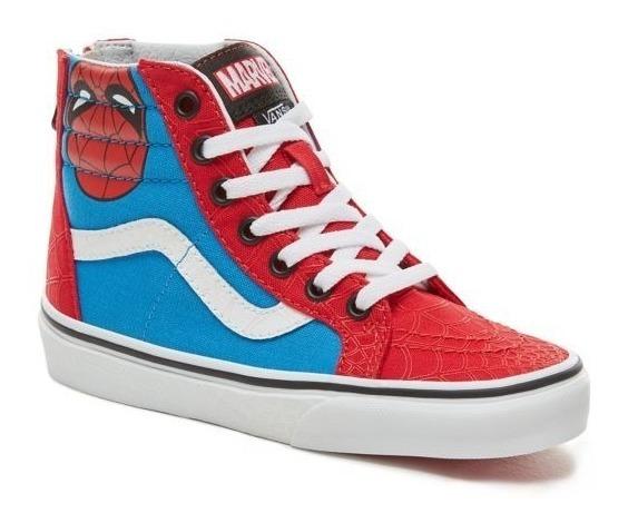 Zapatillas Vans Niño Sk8 Zip Spiderman Marvel!!! Exclusivas