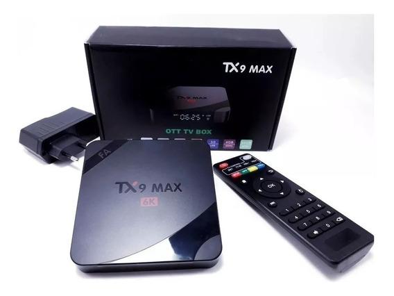 Transf. Sua Tv Em Uma Smart 6k Tx9 Android 9.0 64gb 4g Ram