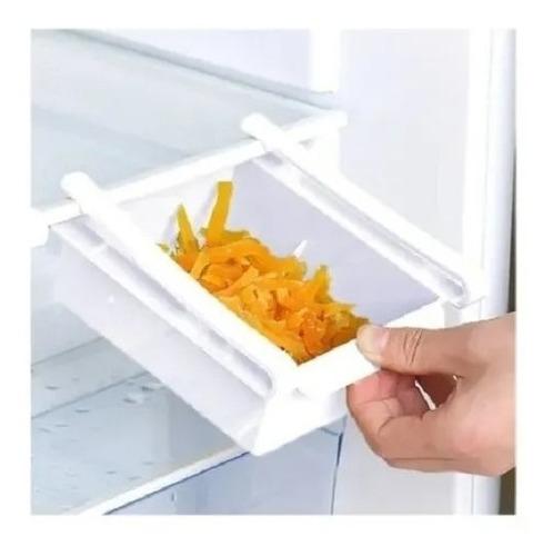 Imagen 1 de 5 de Cajón Estante Bandeja Almacenamiento Para Heladera Plástico