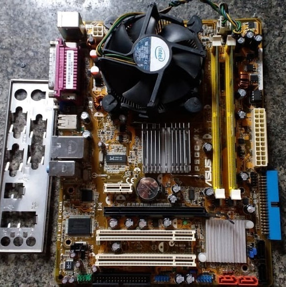 Kit Placa Mãe P5gc-mx 13333 + Dual Core E5200 + 2gb Memoria