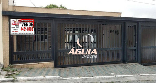 Imagem 1 de 26 de Casa Com 3 Dormitórios À Venda, 200 M² Por R$ 699.900,00 - Vila Linda - Santo André/sp - Ca0764