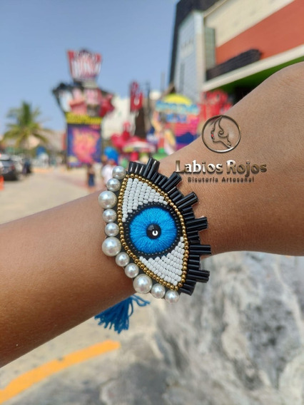 Brazalete Ojo Turco Azul Riqueza Moda 2019