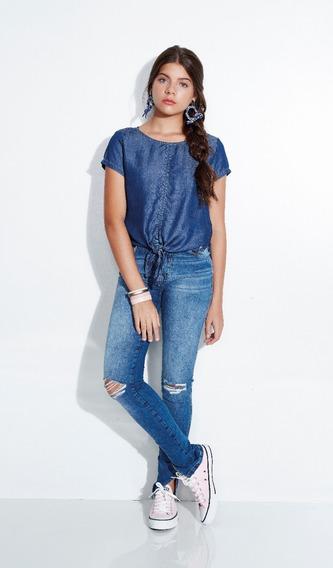 Calça Jeans Skinny Feminino Meninas 01.1237